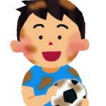 サッカー少年上半身