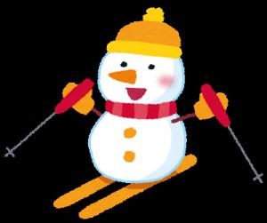 スキー雪だるま